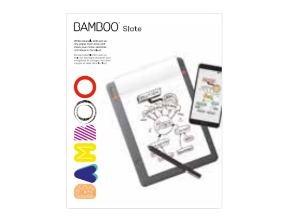 Wacom Bamboo Slate - Notizblock - A5 (148 x 210 mm)/Half Letter (140 x 216 mm) (Packung mit 3)
