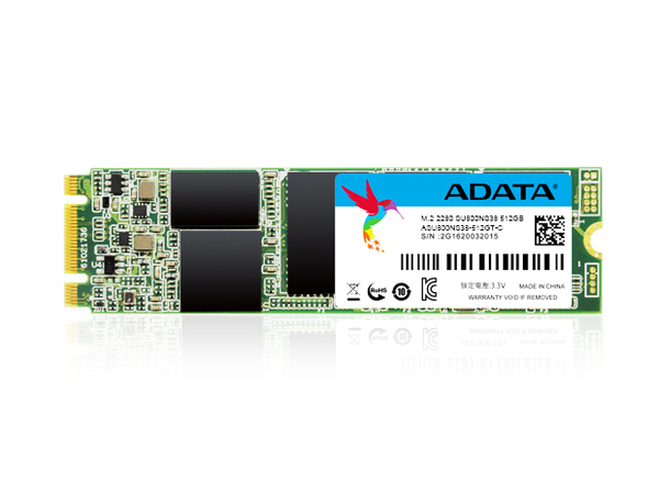 ADATA Ultimate SU800 - Solid-State-Disk - 512 GB - intern - M.2 2280 (M.2 2280) - SATA 6Gb/s
