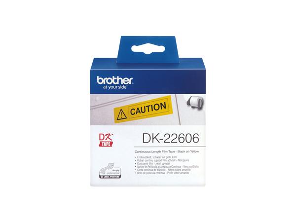 Brother DK-22606 - Gelb - Rolle (6,2 cm x 15,2 m) Folie / Film - für Brother QL-1050, QL-500, QL-550, QL-560, QL-650, QL-700, QL-710, QL-720