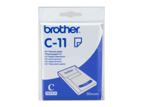 Brother - A7 (74 x 105 mm) 50 Blatt Thermopapier - für m-PRINT MW-100, MW-120, MW-140BT, MW-145BT