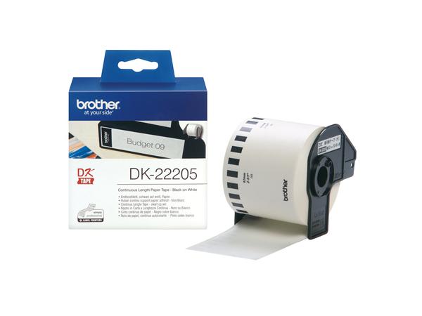 Brother DK-22205 - Rolle (6,2 cm x 30,5 m) Thermopapier - für Brother QL-1050, QL-500, QL-550, QL-560, QL-650, QL-700, QL-710, QL-720