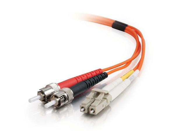 C2G Low-Smoke Zero-Halogen - Patch-Kabel - LC Multi-Mode (M) bis ST multi-mode (M) - 2 m - Glasfaser - 62,5/125 Mikrometer