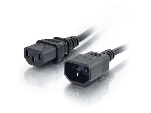 C2G Computer Power Cord Extension - Spannungsversorgungs-Verlängerungskabel - IEC 60320 C13 bis IEC 60320 C14 - Wechselstrom 250 V - 5 m