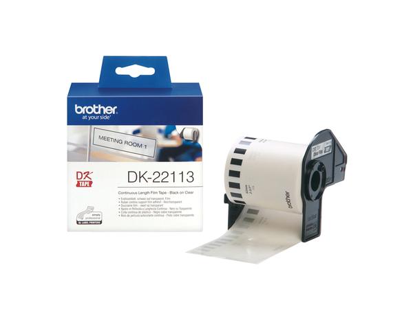 Brother DK-22113 - Klar - Rolle (6,2 cm x 15,2 m) Folie / Film - für Brother QL-1050, QL-500, QL-550, QL-560, QL-650, QL-700, QL-710, QL-720