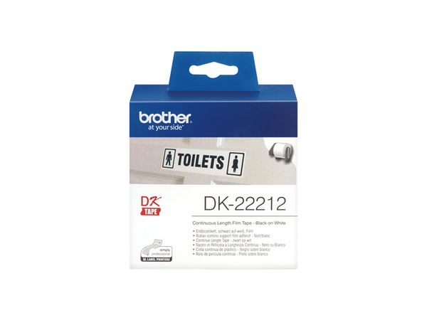 Brother DK-22212 - Permanenter Klebstoff - weiß - Rolle (6,2 cm x 15,2 m) Band - für Brother QL-1050, QL-500, QL-550, QL-560, QL-650, QL-700, QL-710, QL-720