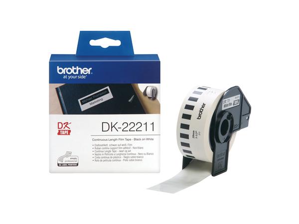 Brother DK-22211 - Weiß - Rolle (2,9 cm x 15,2 m) Etiketten - für Brother QL-1050, QL-500, QL-550, QL-560, QL-650, QL-700, QL-710, QL-720
