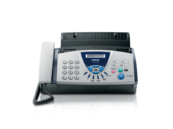 Brother FAX T104 - Faxgerät / Kopierer - s/w - Thermal Transfer - 30 Blatt - 9.6 Kbps