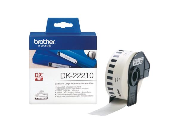 Brother DK-22210 - Rolle (2,9 cm x 30,5 m) Etiketten - für Brother QL-1050, QL-500, QL-550, QL-560, QL-650, QL-700, QL-710, QL-720