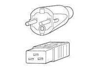 Fujitsu - Stromkabel - CEE 7/7 (SCHUKO) (M) bis IEC 320 EN 60320 C20 (W) - für PRIMERGY BX600 S2, TX600 S2