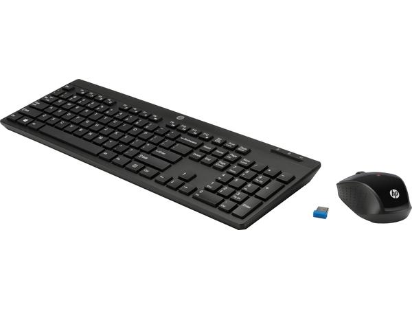 HP 200 - Tastatur-und-Maus-Set - drahtlos - RF, 2.4 GHz - Deutschland