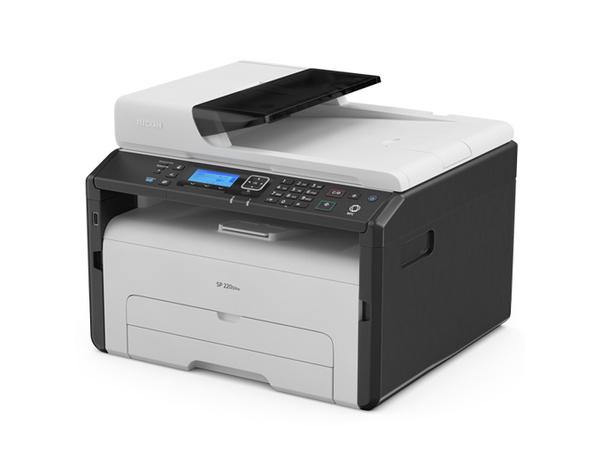 Ricoh SP 220SNw - Multifunktionsdrucker - s/w - Laser - Legal (216 x 356 mm) (Original) - A4/Legal (Medien)