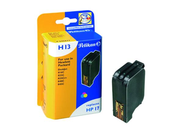 Pelikan H13 - 15 ml - Farbe (Cyan, Magenta, Gelb) - Tintenpatrone (entspricht: HP 17 ) - für HP Deskjet 816c, 825c, 825cvr, 840c, 841c, 842c, 843c, 843cxe, 845c, 845cvr