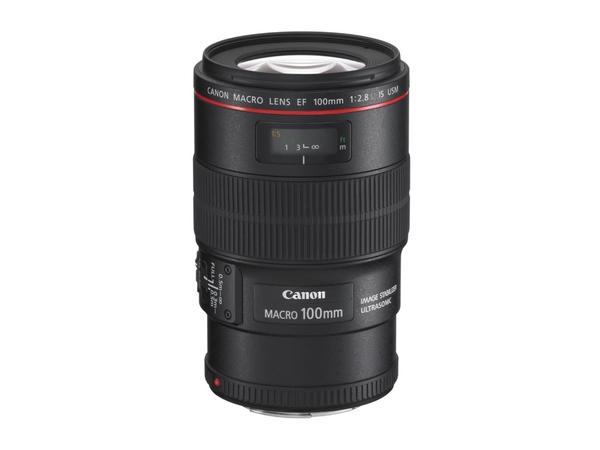 Canon EF - Makro-Objektiv - 100 mm - f/2.8 L Macro IS USM - Canon EF - für EOS 1000, 1D, 50, 500, 5D, 7D, Kiss F, Kiss X2, Kiss X3, Rebel T1i, Rebel XS, Rebel XSi