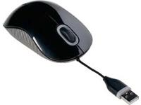 Targus Cord-Storing - Maus - optisch - verkabelt - USB - Grau, Schwarz