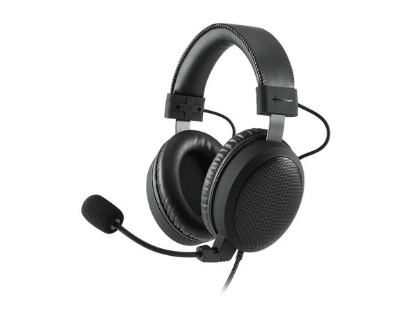 Sharkoon B1 - Headset - Full-Size - 3,5 mm Stecker - Jet Black