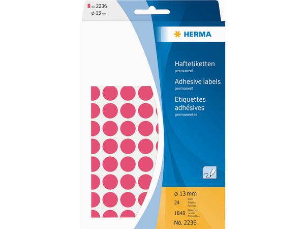 HERMA - Fluoreszierende Etiketten - Papier - matte - permanent adhesive - Rot
