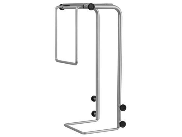 R-Go Tools Steel Basic CPU Halterung, verstellbar, silber, Desk stand CPU holder, Desktop, 30 kg, Silber, Stahl, 75 - 200 mm