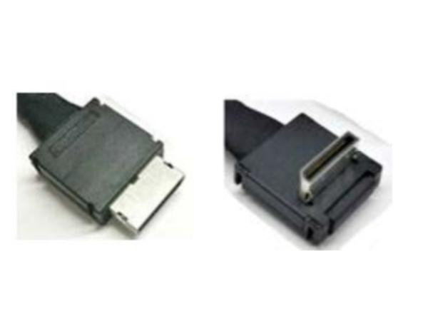 Intel OCuLink Cable Kit AXXCBL470CVCR - Internes SAS-Kabel - 4i MiniLink SAS (SFF-8611) (M) gerade bis 4i MiniLink SAS (SFF-8611) (M) rechtwinklig - 47 cm