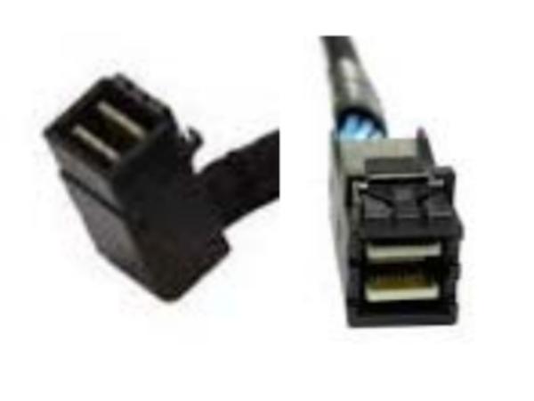 Intel mSAS-HD Cable Kit AXXCBL850HDHRS - Internes SAS-Kabel - 4x Mini SAS HD (SFF-8643) (M) gerade bis 4x Mini SAS HD (SFF-8643) (M) rechtwinklig - 85 cm (Packung mit 2)
