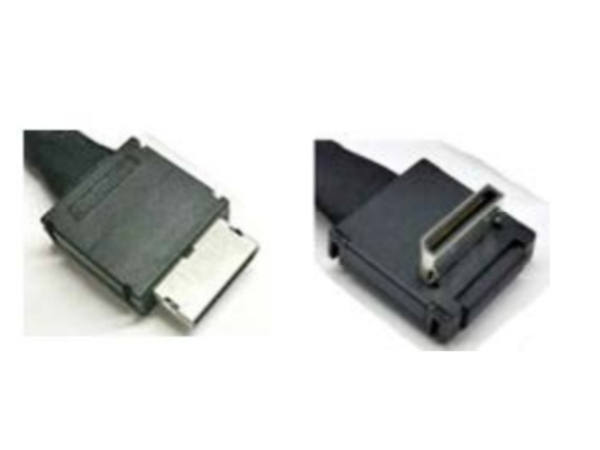 Intel OCuLink Cable Kit AXXCBL450CVCR - Internes SAS-Kabel - 4i MiniLink SAS (SFF-8611) (M) gerade bis 4i MiniLink SAS (SFF-8611) (M) rechtwinklig - 45 cm
