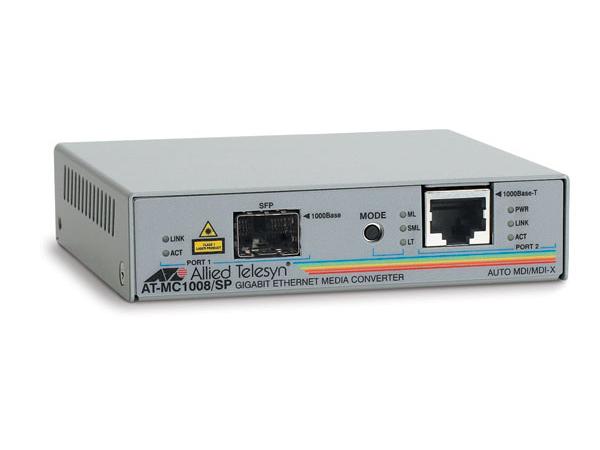 Allied Telesis AT MC1008/SP - Medienkonverter - Gigabit Ethernet - 1000Base-T - RJ-45 / SFP (mini-GBIC)