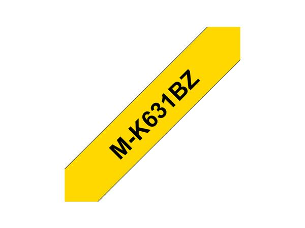 Brother MK631BZ - Schwarz auf Gelb - Rolle (0,9 cm x 8 m) 1 Rolle(n) nicht-laminiertes Schriftband - für P-Touch PT-55, PT-65, PT-75, PT-85, PT-90, PT-BB4