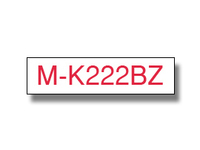 Brother MK222 - Rot auf Weiß - Rolle (0,9 cm x 8 m) 1 Rolle(n) nicht-laminiertes Schriftband - für P-Touch PT-100, PT-110, PT-55, PT-65, PT-70, PT-75, PT-80, PT-85, PT-90, PT-BB4, PT-M95