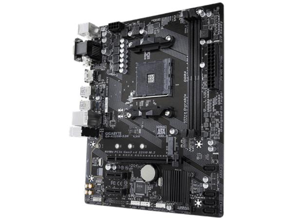 Gigabyte GA-A320M-S2H, DDR4-SDRAM, DIMM, 2133,2400,2667,2933,3200 MHz, Dual, 32 GB, AMD