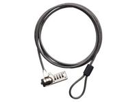 Targus Defcon CL - Sicherheitskabelschloss - Black Nickel - 2.1 m