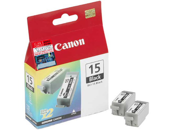 Canon Cartridge BCI-15 Black, Schwarz, - i80 - i70 - PIXMA iP90 - PIXMA iP90v Refurbished - PIXMA iP90v, Tintenstrahl