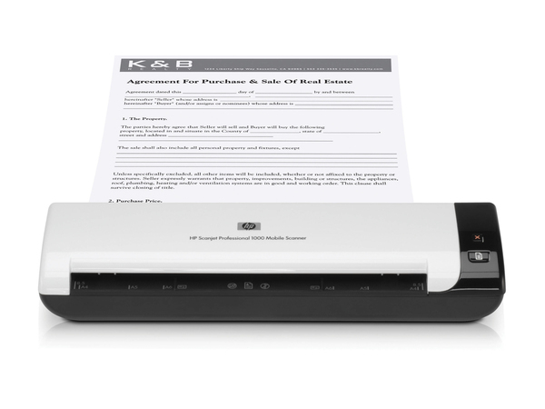 Scanner HP Scanjet Professional 1000 Mobile Scanner/ 600 x 600 dpi/ High Speed USB 2.0/ A4, A5 / 5 ppm