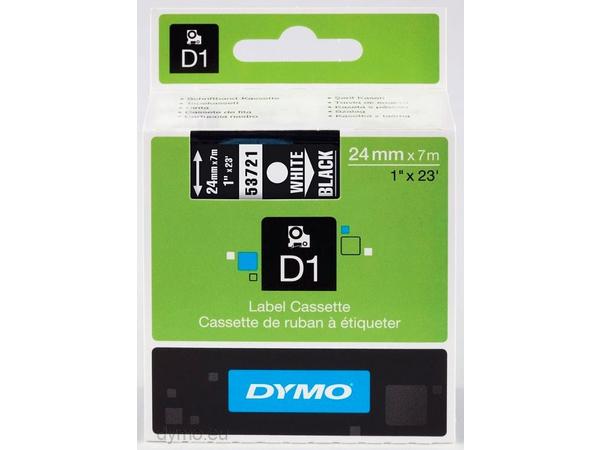 DYMO D1 - Selbstklebend - Weiß auf Schwarz - Rolle (2,4 cm x 7 m) 1 Rolle(n) Etikettenband - für LabelMANAGER 500TS, PnP