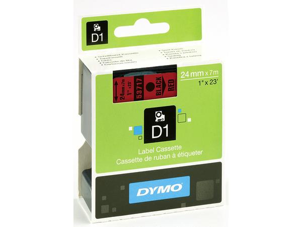 DYMO D1 - Etikettenband - self-adhesive - schwarz auf rot - Rolle (2,4 cm x 7 m) 1 Rolle(n) - für LabelMANAGER 500TS, PnP