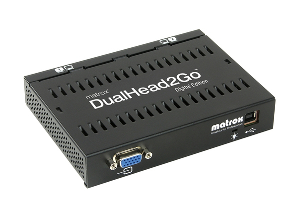 Matrox Graphics eXpansion Module DualHead2Go - Digital Edition - Videokonverter - VGA - VGA - 2 x DVI