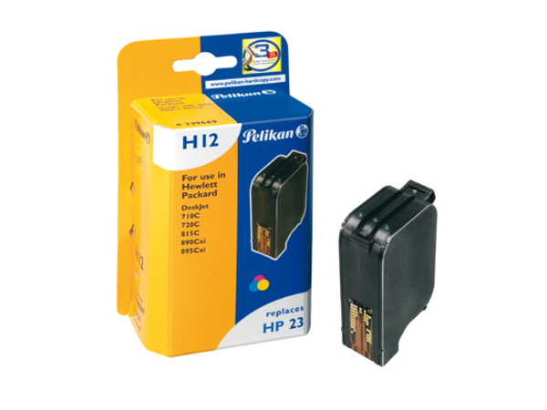 Pelikan H12 - 1 - 30 ml - Tintenpatrone (entspricht: HP 23 ) - für HP Officejet R40, R45, R60, R65, R80, T45, T65; Officejet Pro 11XX; psc 500
