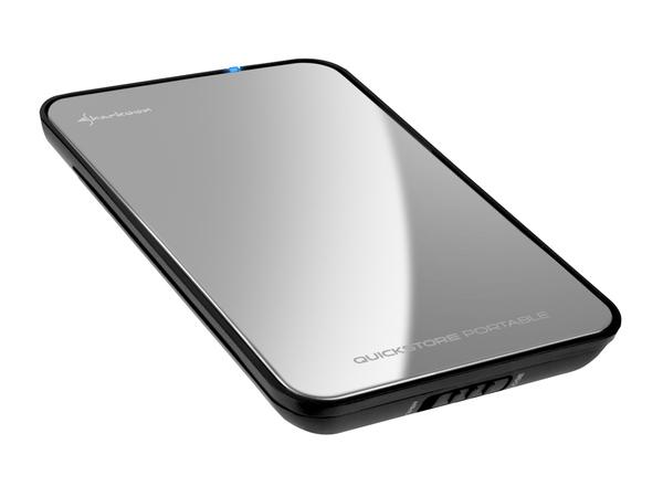 Sharkoon Quickstore Portable - Speichergehäuse mit Backup per Knopfdruck - 6.4 cm ( 2.5