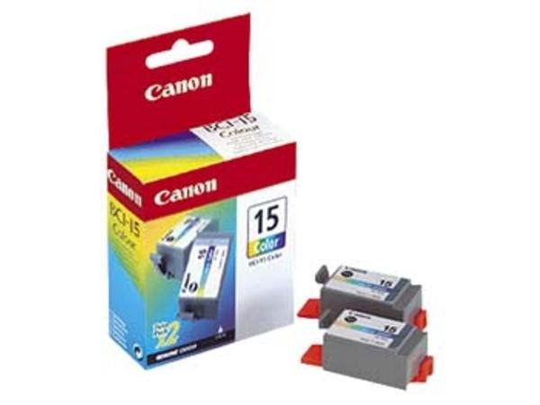 Canon BCI-15 Colour Twin Pack - 2er-Pack - Farbe (Cyan, Magenta, Gelb) - Original - Tintenbehälter - für i70, 80