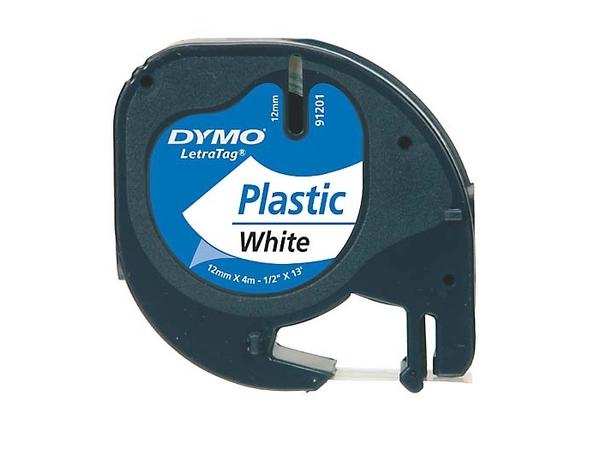 DYMO LetraTAG - Tape - Kunststoff - weiß - Rolle (1,2 cm x 4 m) 1 Rolle(n) - für LetraTag LT-100H, LT-100T, QX50, XR