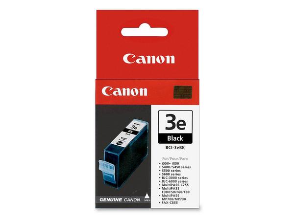 Canon BCI-3eBK - Schwarz - Original - Tintenbehälter - für BJ-S400; BJC-i550; i450; MultiPASS C755; PIXMA IP3000, IP4000, iP5000, MP750, MP760, MP780