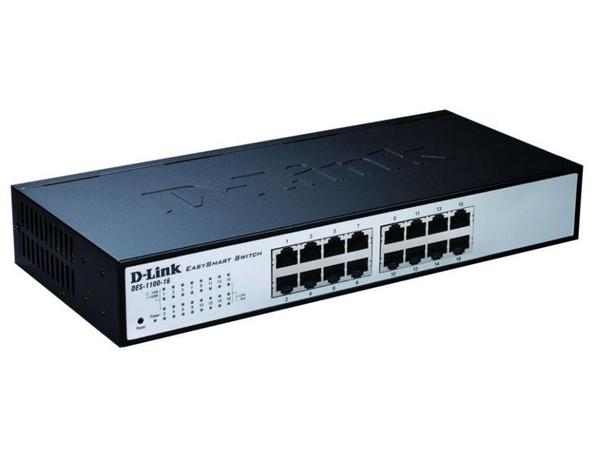 D-Link EasySmart Switch DES-1100-16 - Switch - nicht verwaltet - 16 x 10/100 - Desktop