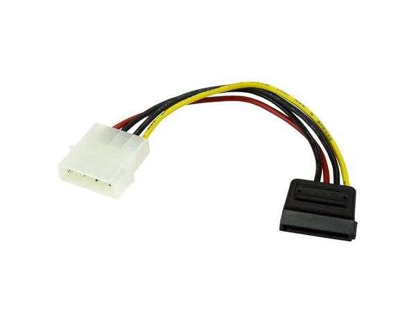 StarTech.com 6in 4 Pin Molex to SATA Power Cable Adapter - Stromkabel - SATA Leistung (M) bis interne Stromversorgung, 4-polig (M) - 0.2 m - für P/N: ATX2POWER430, ATX2POWER530, BRACKET25SAT,