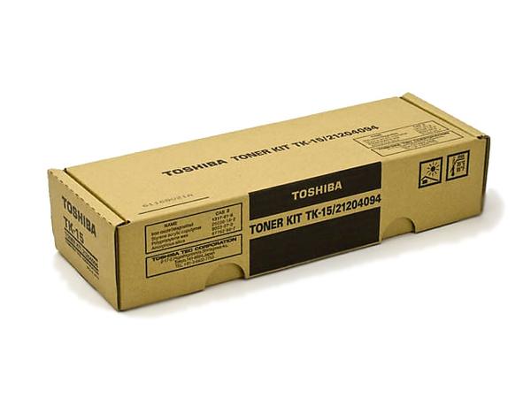 Toshiba TK-15 - Schwarz - Original - Tonerpatrone - für DP 120F, 125F