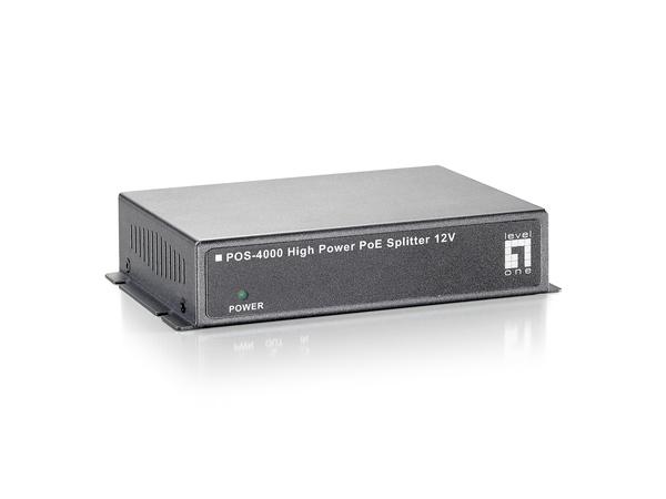 LevelOne POS-4000 - PoE-Splitter - 30 Watt - Ausgangsbuchsen: 1