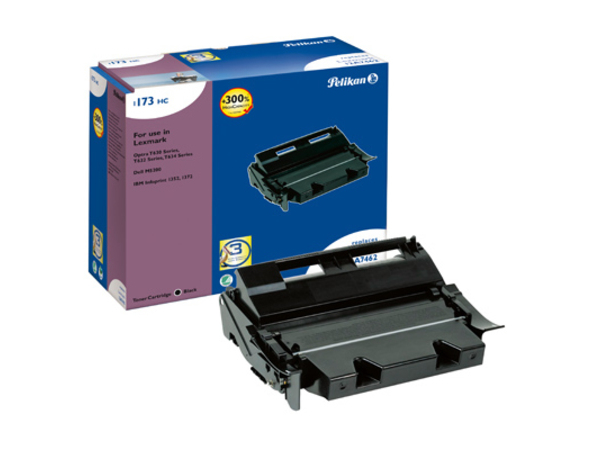 Pelikan 1173 - High Capacity - Schwarz - Tonerpatrone (entspricht: Lexmark 12A7362, Lexmark 12A7462 ) - für Dell Printer Pack M5200; Workgroup Laser Printer M5200; InfoPrint 13XX; Lexmark T63X