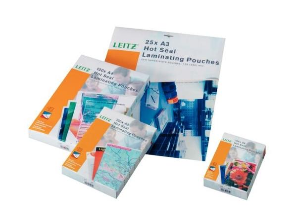 Leitz - 25er-Pack - glänzend - A4 (210 x 297 mm) Taschen für Laminierung