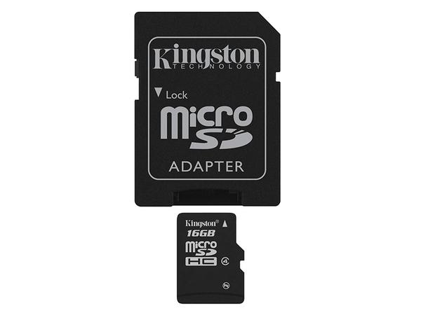 SD MicroSD Card  16GB Kingston SDHC     (Class 4) m. Adapter retail
