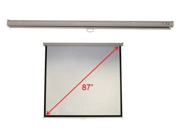 Acer M87-S01MW - Leinwand - Decke montierbar, Wand montierbar - 221 cm (87 Zoll) - 4:3 - Matte White