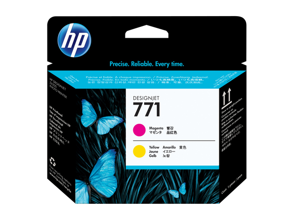 HP 771 - Gelb, Magenta - Druckkopf - für DesignJet Z6200, Z6600 Production Printer, Z6800 Photo Production Printer
