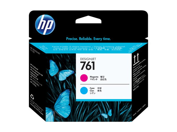 HP 761 - Cyan, Magenta - Druckkopf - für DesignJet T7100, T7200 Production Printer