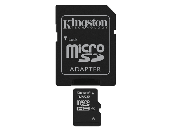 Kingston - Flash-Speicherkarte (microSDHC/SD-Adapter inbegriffen) - 32 GB - Class 4 - microSDHC